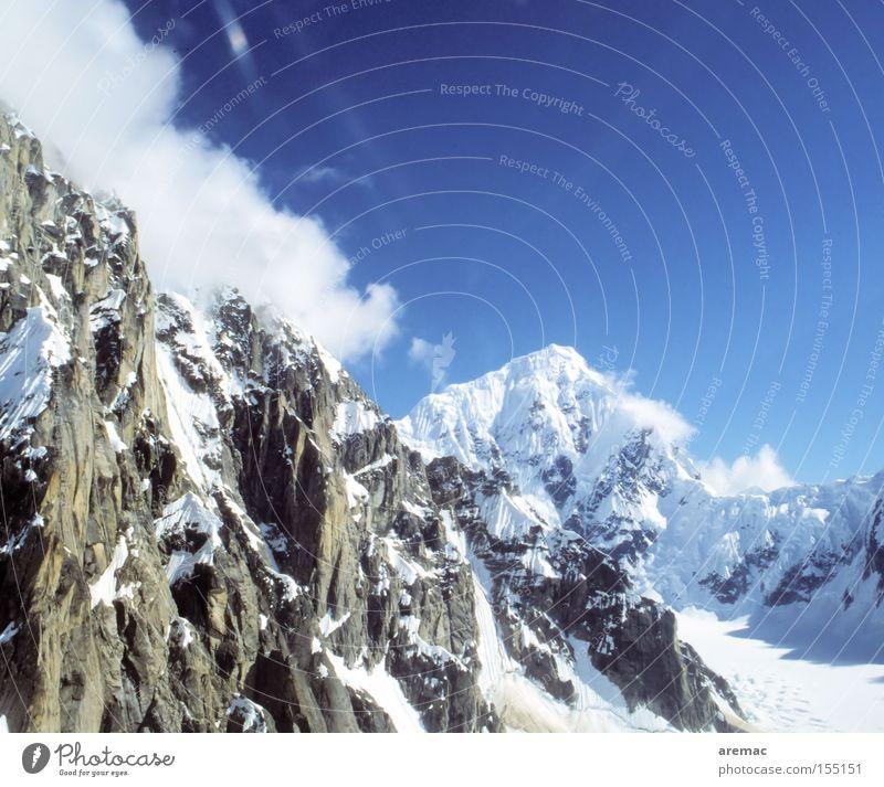 Höhenrausch Berge u. Gebirge Schnee Gipfel Winter Landschaft Himmel Wolken Alaska USA