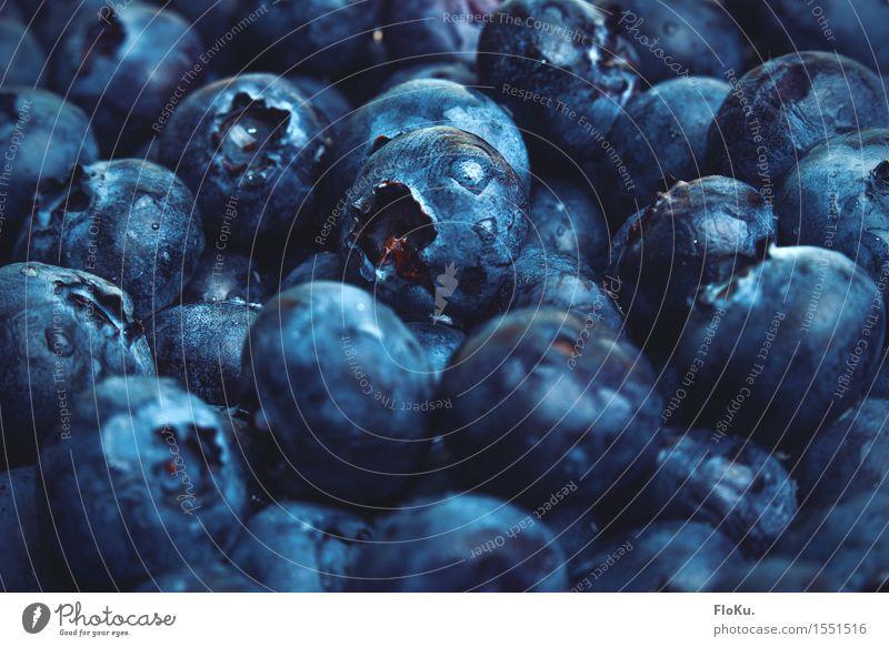 Blaubeer Overload Lebensmittel Frucht Ernährung frisch Gesundheit lecker nass natürlich saftig süß blau Farbe Blaubeeren Beeren viele Hintergrundbild Farbfoto