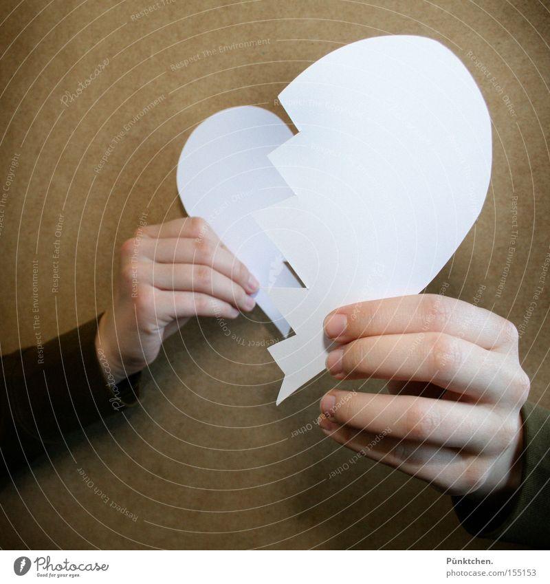 Die Zeit heilt alle Wunden* Hand Liebe Herz Trauer Teilung Verzweiflung Maus Trennung weinen Scheidung