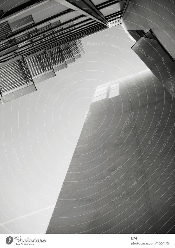 ALLES NEUER kalt grau Architektur modern neu Zukunft Bauwerk Geometrie Barcelona Futurismus