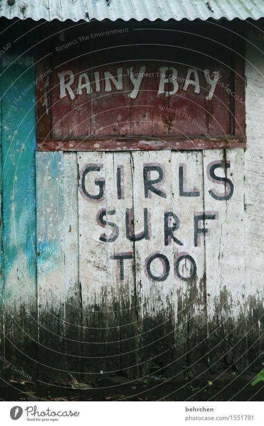 klarstellung! Ferien & Urlaub & Reisen Tourismus Ausflug Abenteuer Ferne Freiheit Meer Karibik cahuita Costa Rica Schwimmen & Baden Surfen Wahrheit Wand Hütte