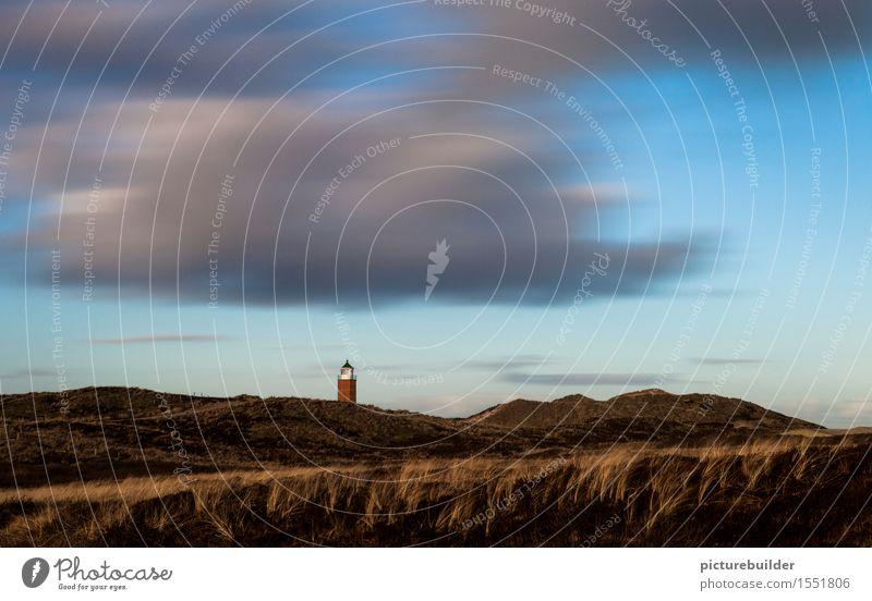 Wolkenspiel überm Leuchtturm Himmel Natur Ferien & Urlaub & Reisen Meer Landschaft ruhig Winter Strand Frühling Küste Stimmung Idylle Wind Insel Nordsee