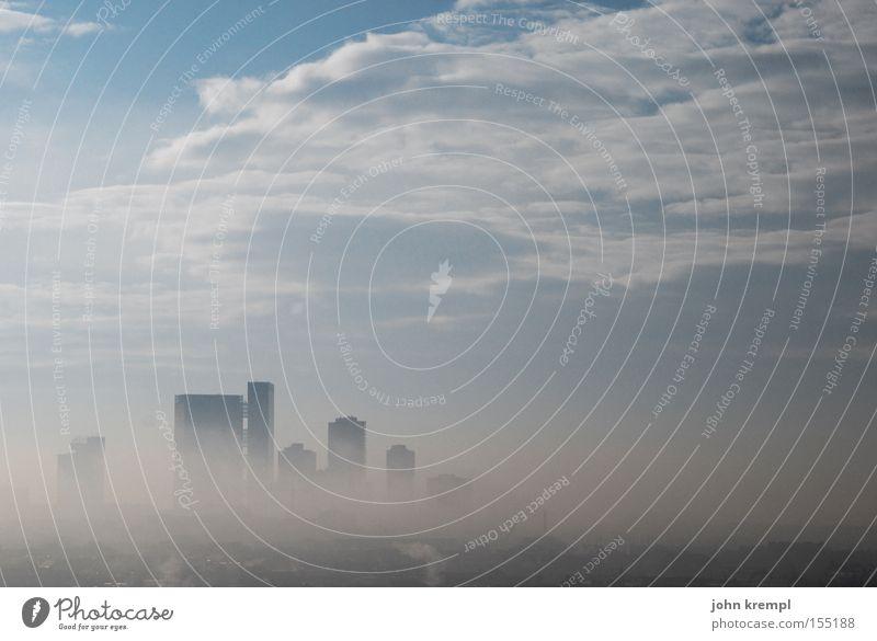 vienna Himmel Wolken Nebel Hochhaus Wien November Smog