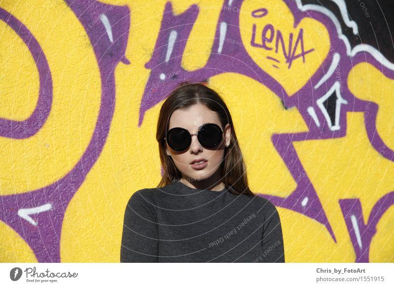 chris_by_fotoart Mensch Frau Jugendliche schön Junge Frau Erotik 18-30 Jahre Erwachsene Graffiti feminin Kunst außergewöhnlich Freizeit & Hobby elegant genießen