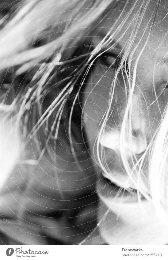Milk teeth bite. Frau Blick Sünde Intimität berühren Gefühle Haut Küssen schön Haare & Frisuren sensibel verführerisch