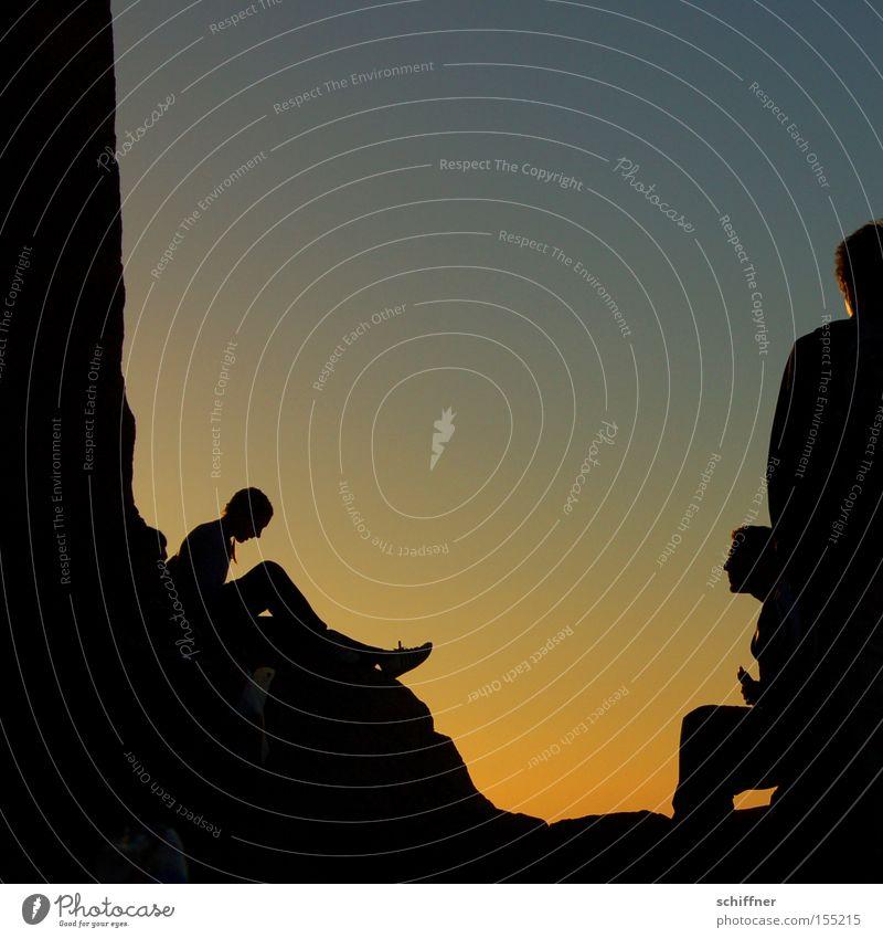 Seele baumeln lassen Sonnenaufgang Morgen Dämmerung Sinai-Berg Ferne Frau Mensch Zufriedenheit Berge u. Gebirge Ägypten ruhig Frieden schweigen Meditation