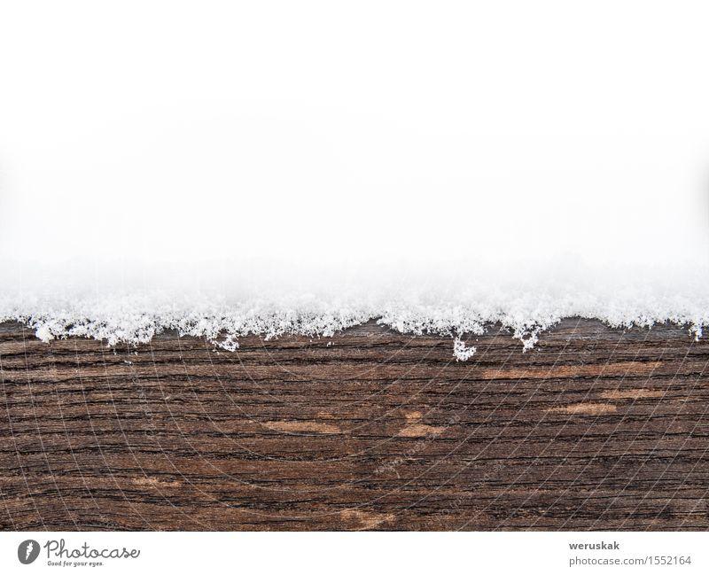 Painted Holzbrett oder Holz mit Schnee bedeckt Winter Dekoration & Verzierung Stuhl alt kalt natürlich weich braun weiß elegant Erholung