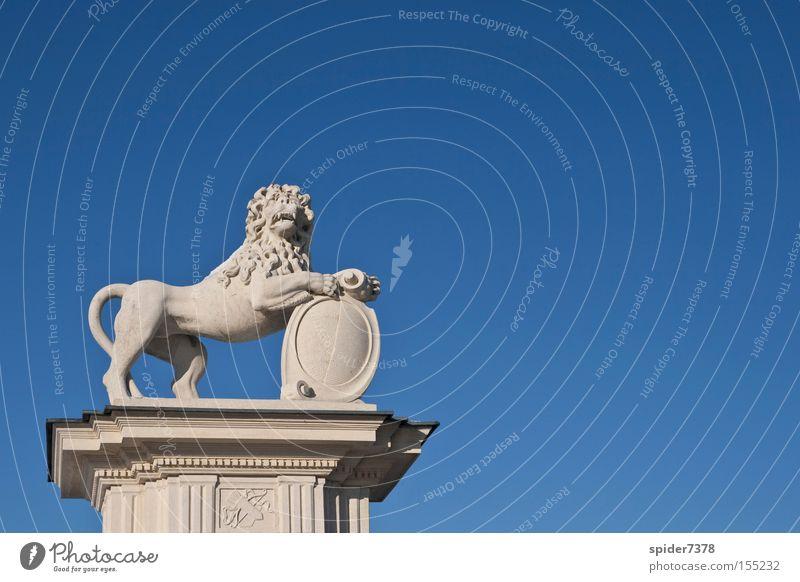 bewappneter Löwe Winter Himmel blau Wappen Wappentier historisch Kunst Kultur Nordkirchen Schilder & Markierungen