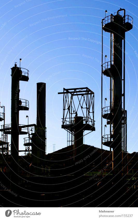 Ölraffinerie Erdöl Raffinerie Luft ökonomisch Energie Umwelt Sprit Benzin global Treibhausgas Industrie Erdölförderung Umweltverschmutzung Gift Gefahr