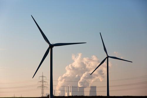 Braunkohlekraftwerk Neurath mit Alternativen Arbeit & Erwerbstätigkeit Horizont Feld Energiewirtschaft authentisch Technik & Technologie bedrohlich