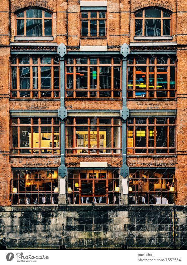 Tetris Haus Speicherstadt Hamburg Kunst Stadt Hafenstadt Altstadt Industrieanlage Bauwerk Gebäude Architektur Mauer Wand Sehenswürdigkeit Wahrzeichen Denkmal