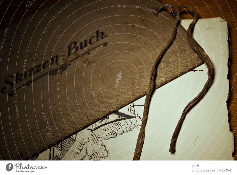 Skizzen der Vergangenheit alt Kunst Buch Papier Freizeit & Hobby Kultur Bildung streichen zeichnen Kreativität Anstreicher Künstler Erinnerung früher Entwurf talentiert
