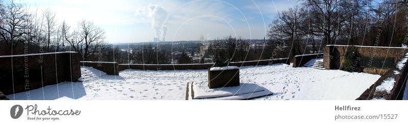 Überblick 3 Winter Landschaft Lausitz Spremberg Sonne Schnee