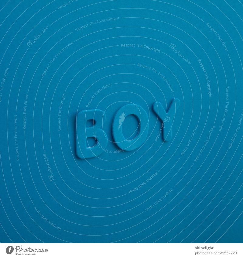boy Kind blau Junge Schriftzeichen Baby Kleinkind Geburt