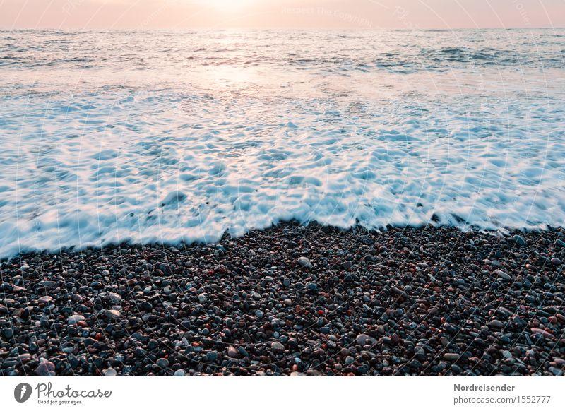 Gischt Leben harmonisch Sinnesorgane Ferien & Urlaub & Reisen Tourismus Abenteuer Ferne Freiheit Sommer Sommerurlaub Sonne Strand Meer Urelemente Wasser