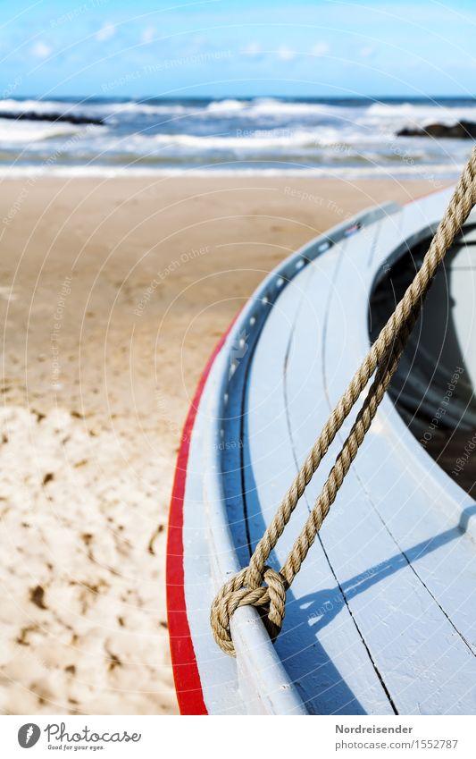 Im Anschnitt.... Tourismus Strand Meer Sand Wasser Sommer Schönes Wetter Küste Nordsee Fischerdorf Schifffahrt Fischerboot Knoten Ferien & Urlaub & Reisen
