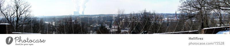 Überblick 2 Sonne Winter Schnee Landschaft Lausitz