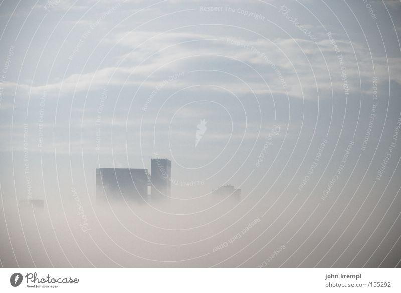 morgennebel Nebel Haus Hochhaus Skyline Wien Wolken Morgen Morgendämmerung Sonnenaufgang Himmel