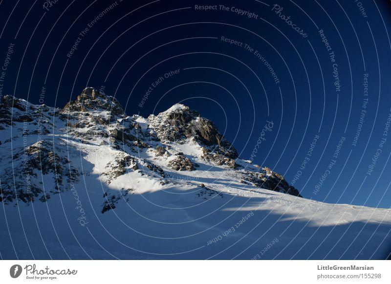 Casanna III Himmel Winter Berge u. Gebirge Schnee Felsen Eis Schweiz Skipiste Kanton Graubünden Davos Parsenn