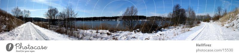 Wintersonne 2 Sonne Schnee Landschaft Stausee Lausitz