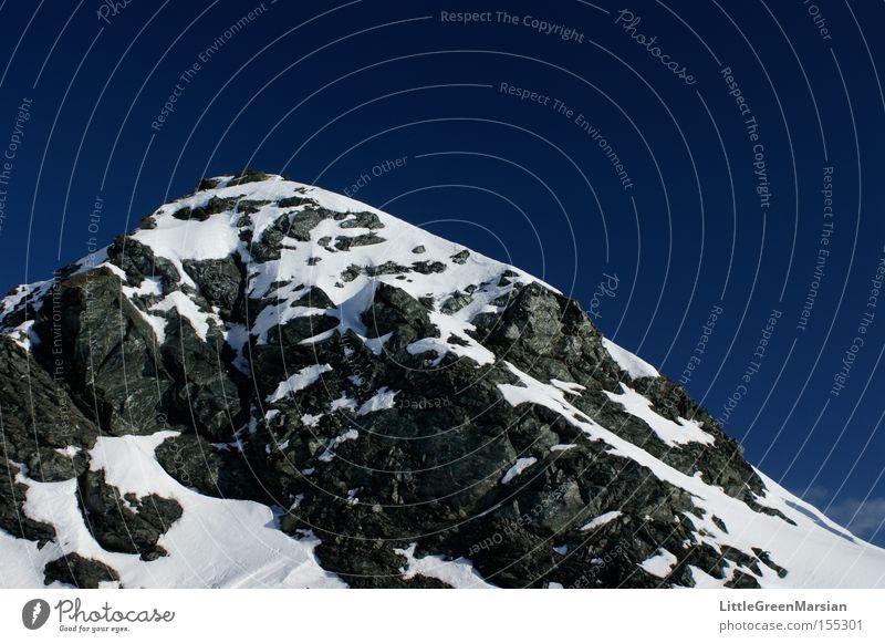 Weissfluhjoch Himmel Winter Berge u. Gebirge Schnee Felsen Alpen Schweiz scheckig Kanton Graubünden Davos Parsenn
