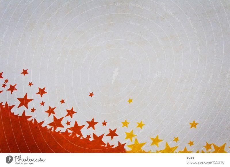 Sternenklar schön weiß rot gelb Graffiti Wand Mauer Stil Hintergrundbild Fassade Lifestyle Design Dekoration & Verzierung einfach Stern (Symbol) Zeichen