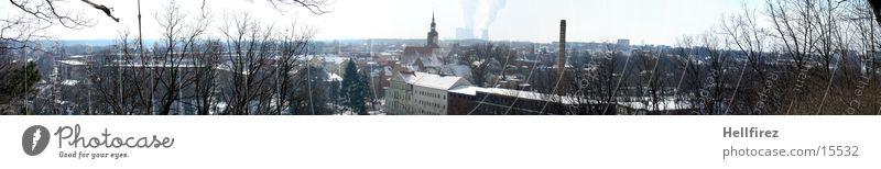Pano 2 Sonne Winter Schnee Landschaft Natur Lausitz