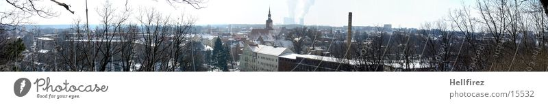 Pano 2 Winter Landschaft Lausitz Spremberg Sonne Schnee
