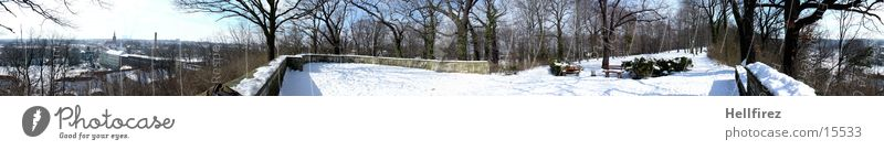 Pano 1 Sonne Winter Schnee Landschaft Lausitz