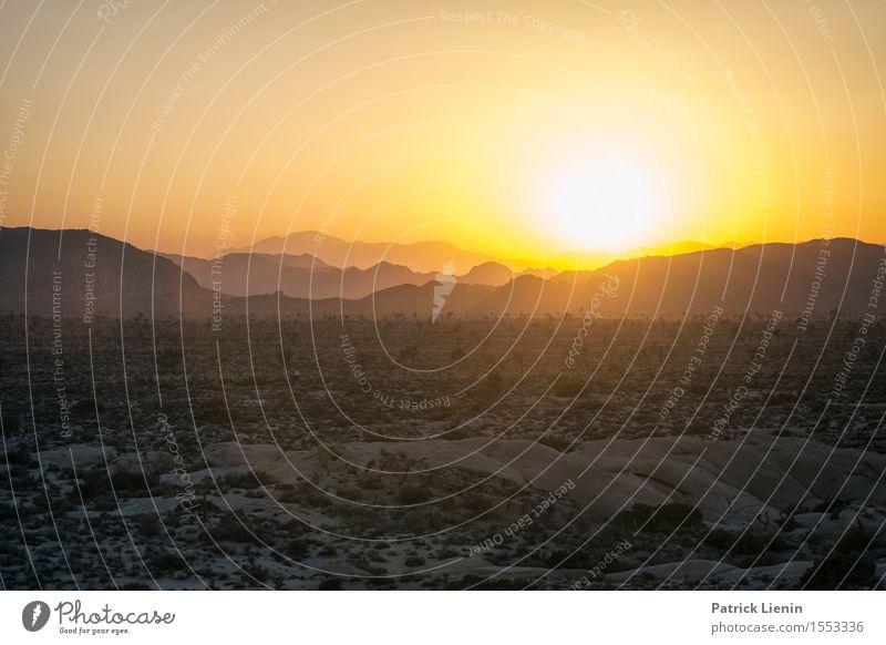 Desert Sunset Himmel Ferien & Urlaub & Reisen Sommer Sonne Landschaft Ferne Berge u. Gebirge Umwelt Wärme Sand Felsen Tourismus Wetter Erde Ausflug Klima