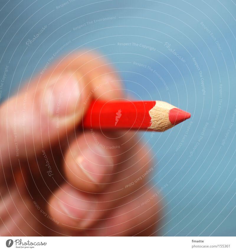 rotstift Hand schreiben streichen Medien Schreibstift zeichnen Gemälde Lehrer wählen rechnen korrigieren restriktiv