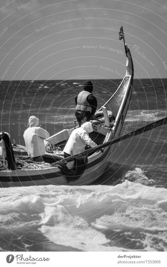 Fischerei in Vieira Leiria 18 Natur Ferien & Urlaub & Reisen Sommer Meer Landschaft Ferne Umwelt Küste Freiheit Arbeit & Erwerbstätigkeit Tourismus Wellen Kraft
