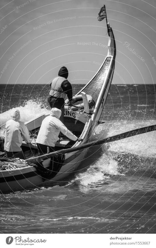 Fischerei in Vieira Leiria 5 Natur Ferien & Urlaub & Reisen Sommer Meer Strand Umwelt Küste Tourismus Wellen Kraft Schönes Wetter Coolness Macht Fahne