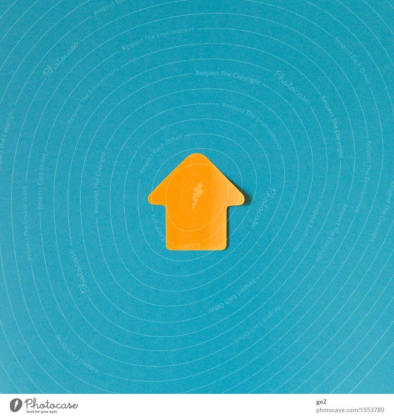 Aufwärts blau gelb orange Kraft Erfolg Perspektive Beginn Zukunft einfach Zeichen Ziel Pfeil türkis Mut Richtung Karriere
