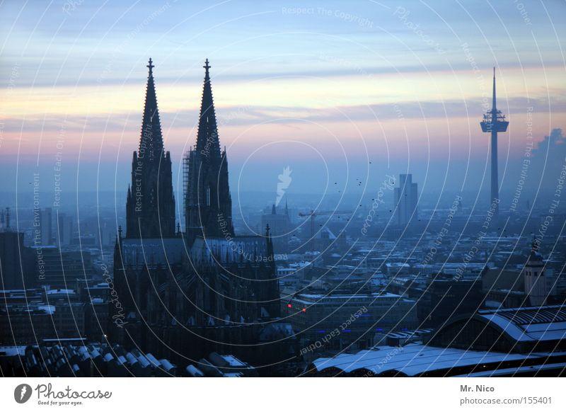 Heimatserie (4) Stadt Köln Kölner Dom Wahrzeichen Bauwerk Horizont Sonnenuntergang Gotteshäuser Denkmal Kathedrale
