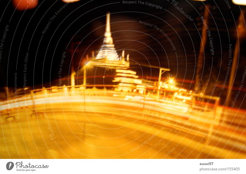 Bangbangkok Asien Thailand Tempel Nachtaufnahme Bangkok