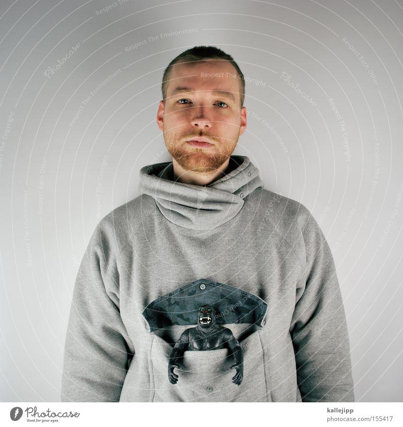 beuteltier Mensch Mann Tier Haare & Frisuren grau Mode Spielzeug Bart Puppe Tasche Affen Beutel Hormon Känguruh