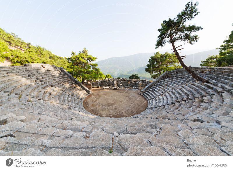 Türkei Asien Himmel und Ruinen Ferien & Urlaub & Reisen Berge u. Gebirge Theater Kultur Natur Pflanze Baum Blume Felsen Kleinstadt Architektur Stein alt