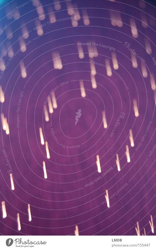 Sternenregen Regen Linie Hintergrundbild violett Weltall Feuerwerk Sternenhimmel Lichtpunkt Sternschnuppe