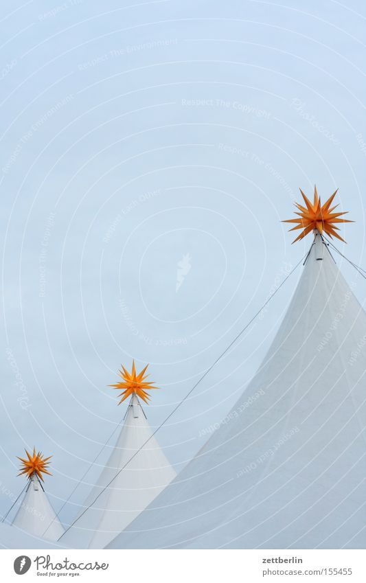 Trio Weihnachten & Advent Himmel blau Kunst Stern (Symbol) Naher und Mittlerer Osten Niveau stehen Spitze Israel Markt Zelt Buden u. Stände Sternenhimmel