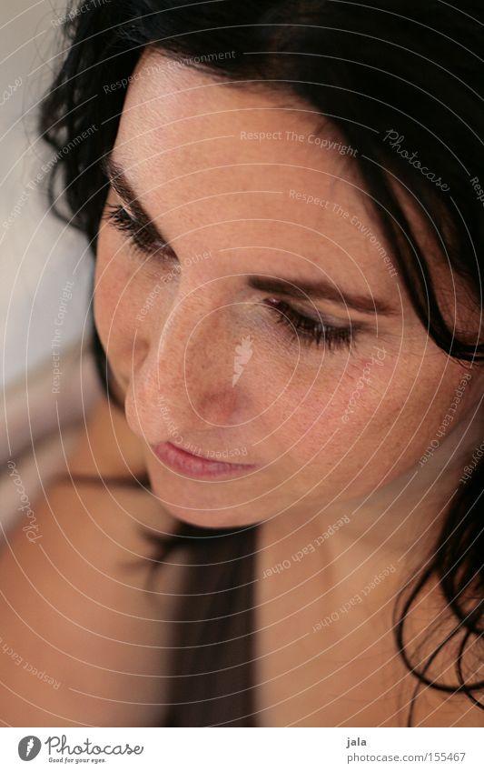 Jaclin Frau schön Gesicht Auge Gefühle Haare & Frisuren offen authentisch Gelassenheit Gedanke dunkelhaarig