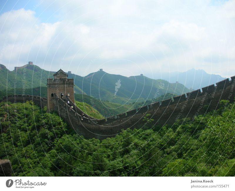 Chinesiche Mauer Natur Landschaft ruhig Kultur historisch China Buddhismus Zen Asien Chinesische Mauer