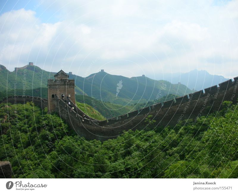Chinesiche Mauer Natur Landschaft ruhig Mauer Kultur historisch China Buddhismus Zen Asien Chinesische Mauer