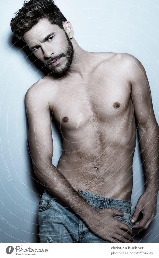 Modeling Körperpflege Haare & Frisuren Junger Mann Jugendliche 1 Mensch 18-30 Jahre Erwachsene Blick stehen ästhetisch außergewöhnlich trendy schön einzigartig