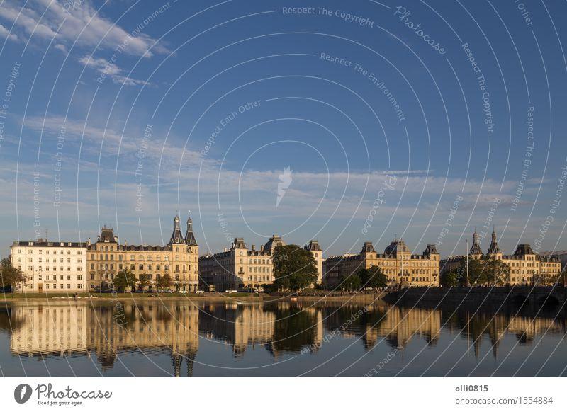 Blick über den Sortedams See in Kopenhagen Ferien & Urlaub & Reisen Tourismus Dänemark Stadt Gebäude Architektur Fassade Zentrum sortedam nordisch Stadtbild