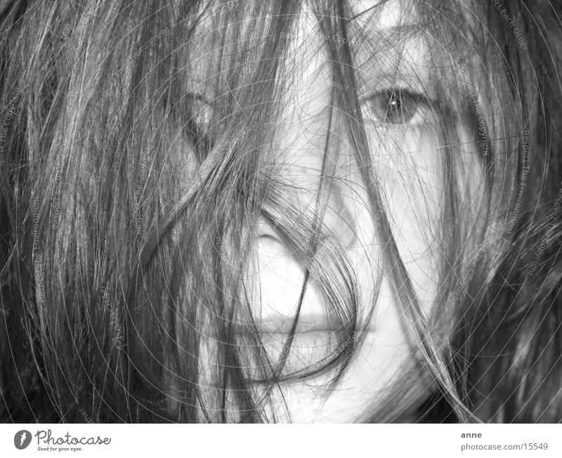Hair Mädchen Haare & Frisuren Potrait schwarz-weis