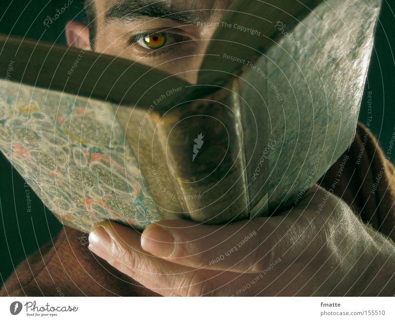 lesen Mann Auge Buch Studium lernen lesen Bildung Ernährung Geschwindigkeit Mensch Wissen Bibliothek