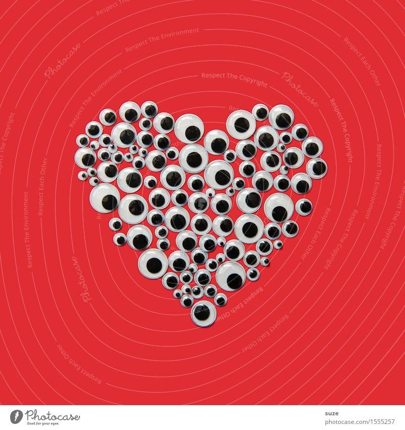 Man sieht nur mit dem Herzen gut ... Design Glück Dekoration & Verzierung Valentinstag Muttertag Geburtstag Auge Zeichen beobachten Coolness Erotik lustig