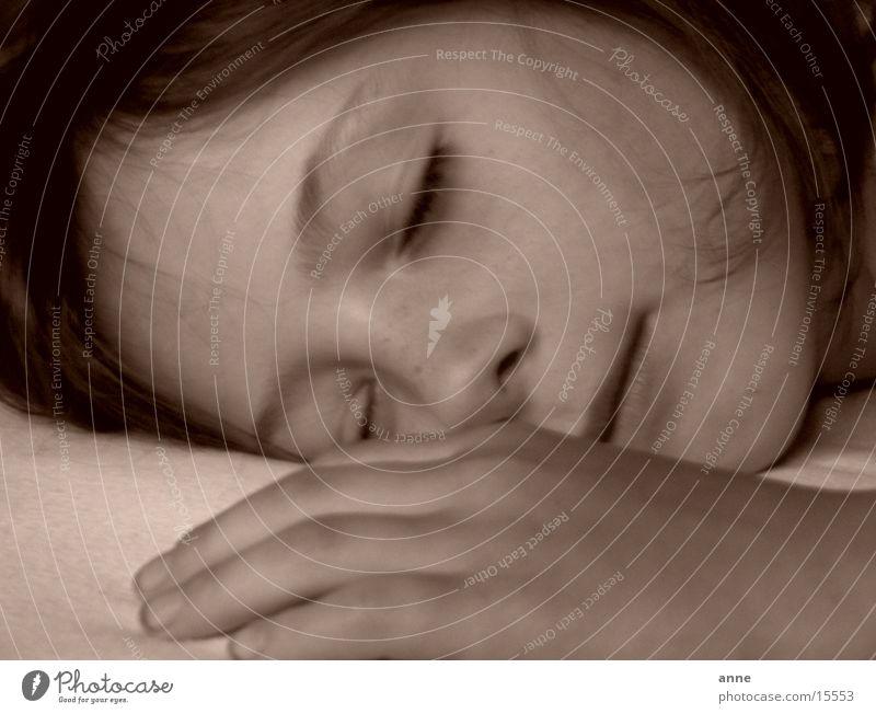 schlaf Porträt schlafen Frau Mensch Gesicht
