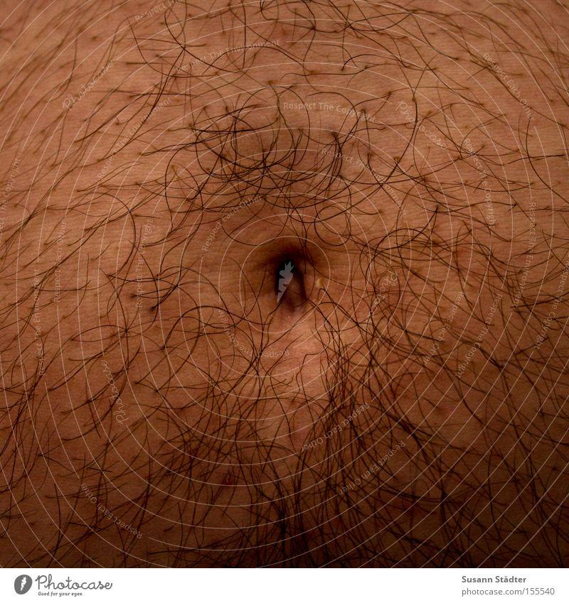 Waschbärbauch Haare & Frisuren Bauch Mitte Nabelschnur dick rund Ernährung Übergewicht Körper Haut sanft Hose eng